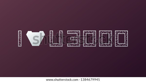 Download Love You 3000 Times Love U Stock Vector (Royalty Free ...
