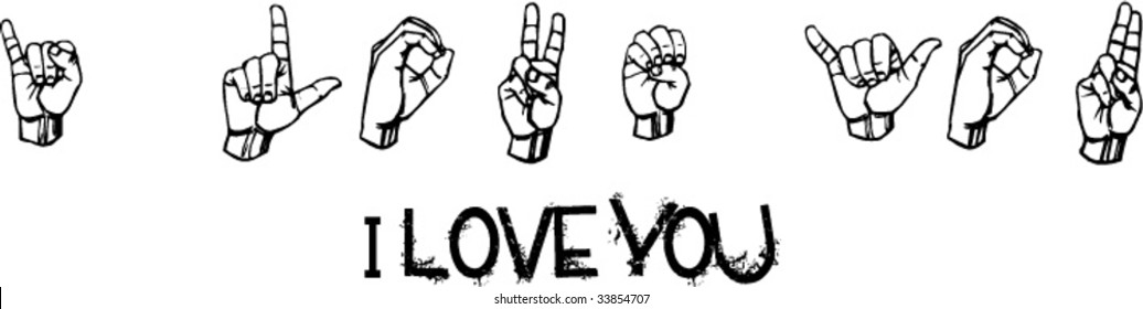 i love you in gestural language