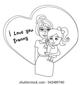 I Love You Granny card