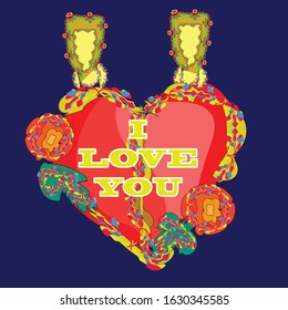 i love you hear locket is a pendant that  open to reveal a space used for love emotion.Locket is usually given to loved one on holiday such as Valentine's day and occasions such as christmas,weddings.