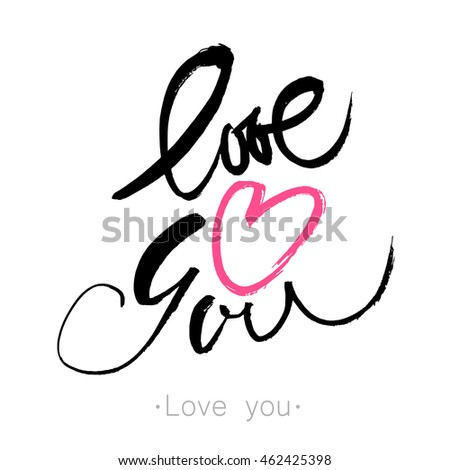 LOVE YOU Heart You Hand Drawn Stock Vector (Royalty Free