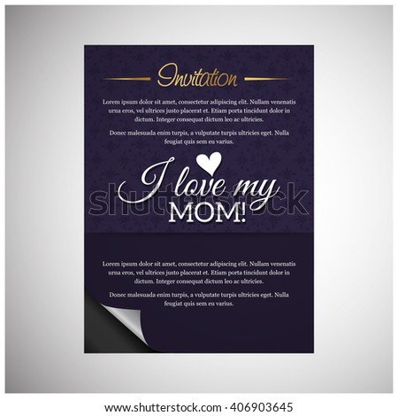 love you mom mothers day blue stock vector royalty free 406903645