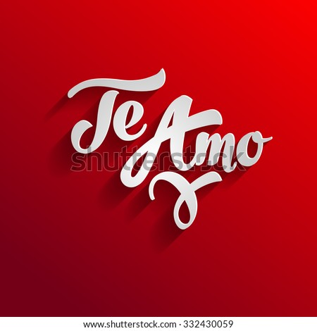 Love you spanish greeting card template stock vector royalty free i love you in spanish greeting card template te amo m4hsunfo