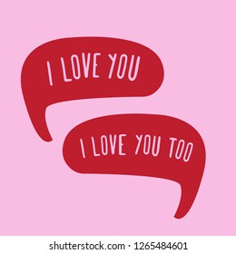 Royalty Free I Love You Too Images Stock Photos Vectors