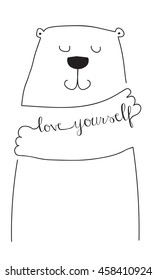 love yourself  bear hug