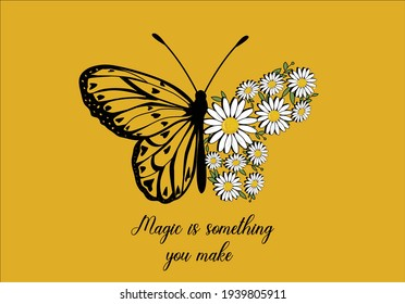 love yourself daisy spring dreamer butterflies and daisies positive quote flower design margarita  mariposa stationery,mug,t shirt,phone case fashion slogan  style spring summer sticker