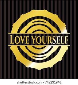 Love Yourself golden badge