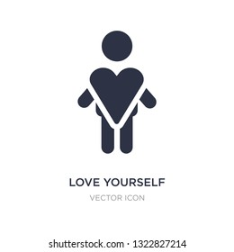love yourself icon on white background. Simple element illustration from People concept. love yourself sign icon symbol design.