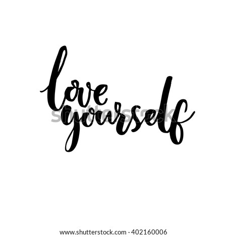 Love Yourself Psychology Quote About Self Stock Vector Royalty Free