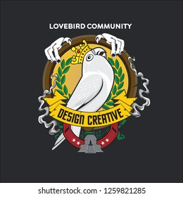 Logo Lovebird Images Stock Photos Vectors Shutterstock