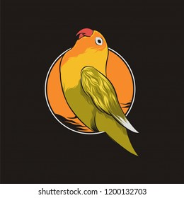 Lovebird Vector Illustration