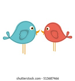 lovebirds cartoon icon image