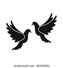 Lovebirds Icon Simple Illustration Lovebirds Vector Stock Vector Royalty Free 481355092