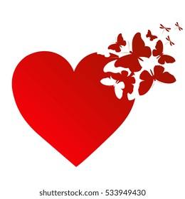 love,butterfly heart