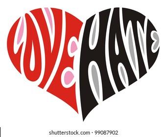 Love&Hate heart