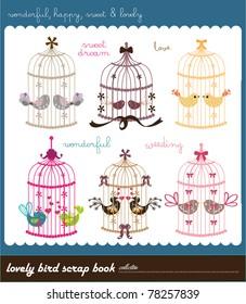 lovely bird scarp book collection