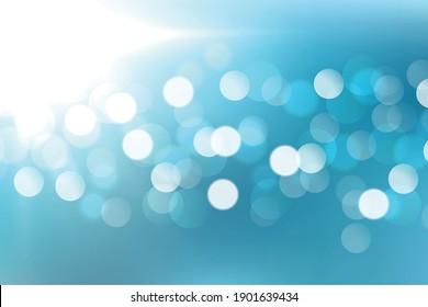 lovely blue bokeh light effect background design