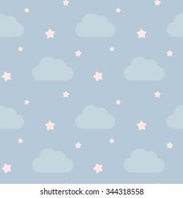 vector sky stars clouds vector illustration stock vector royalty