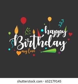 Happy Birthday My Love Images Stock Photos Vectors Shutterstock
