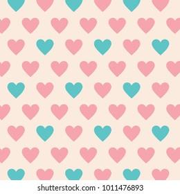 Lovely Heart Pattern Vector