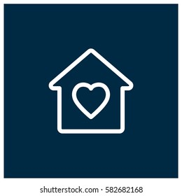Lovely home vector icon, home sweet home, symbol. Modern, simple flat vector illustration for web site or mobile app