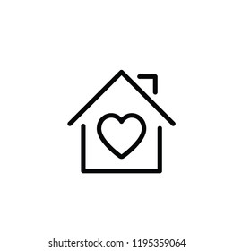 Lovely house icon