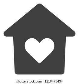 Lovely house icon on a white background. Isolated lovely house symbol with flat style.
