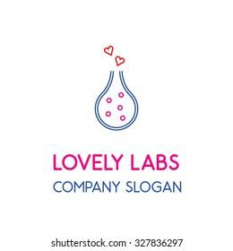 Lovely labs laboratory research development studio logo design
