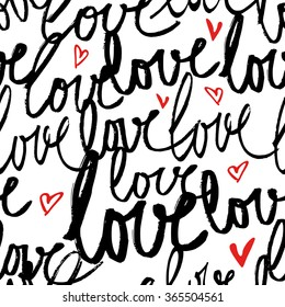 Lovely lettering valentines day background