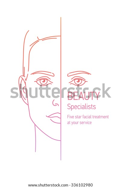 Lovely Linear Vector Concept Design On Stock Vector Royalty Free 336102980