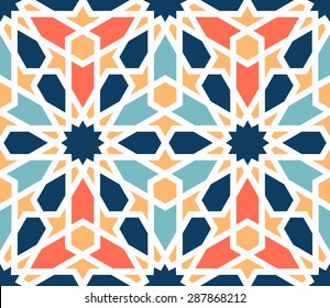 Lovely modern colorful vector traditional arabic pattern background design. Ideal for wall decoration, printables and wrapping paper design