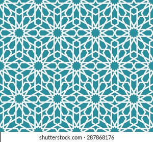 Lovely modern line vector traditional arabic pattern background design. Ideal for wall decoration, printables and wrapping paper design