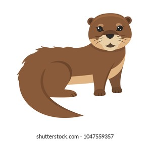 Lovely otter vector illustration