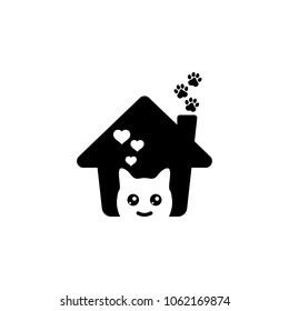 Lovely pet house logo.