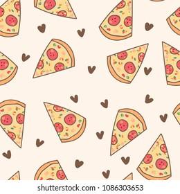 Lovely pizza pattern