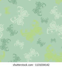 Lovely seamless butterfly iterative texture isolated on contrast back layer. Flying butterfly repeat theme vector. Wildlife insect fauna backdrop for advert.