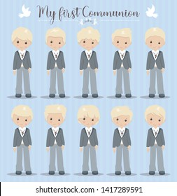 Lovely set of boys for First Communion