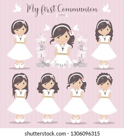 Lovely set of girls for First Communion