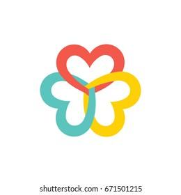Lovely Three Hearts Illustration