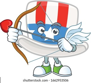 A lovely uncle sam hat Cupid with arrow and wings