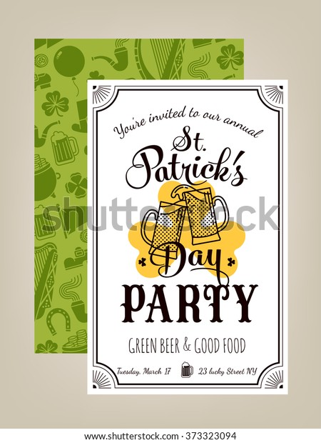 Lovely Vector Invitation Card On Saint Stock Vector Royalty