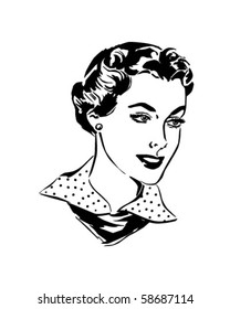 Lovely Woman - Retro Clip Art