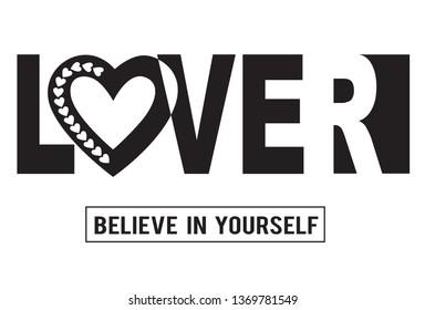 lover,for t-shirt slogan
