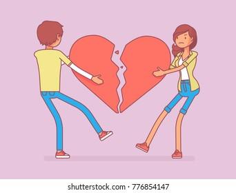 Relationship Breakup Images, Stock Photos & Vectors