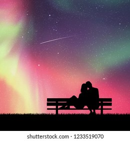 1000 Silhouette Couple Sitting Stock Images Photos