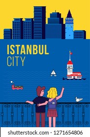 Lovers Wachting Istanbul Skyline