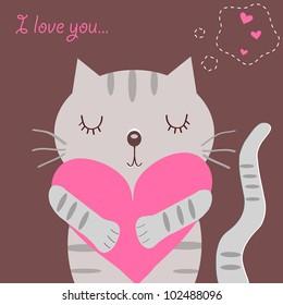 Loving cat