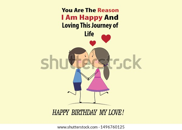 loving couple birthday card quotes stock image now