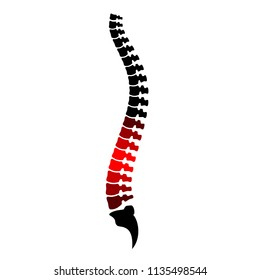 Low back pain vector illustration isolated on white background