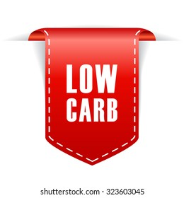 Low carb product ribbon isolated on white background